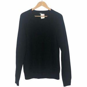 Uniqlo Crew Neck Ribbed Sweater Dark Navy Men's L